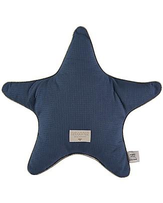 Nobodinoz Aristote Star Cushion, Night Blue - 40 cm -  Organic cotton null