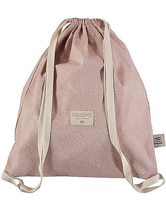 Nobodinoz Backpack Koala, White Bubble/Misty Pink - Organic cotton Small Backpacks