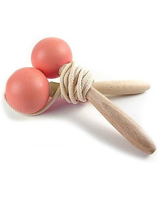 Nobodinoz Beech Wood Jumping Rope, Indian Pink Outdoor Games & Toys