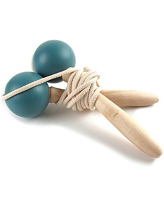 Nobodinoz Beech Wood Jumping Rope, Thalassa Blue Outdoor Games & Toys