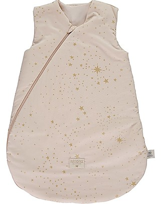 Nobodinoz Cocoon Small Sleeping Bag, Gold Stella/Dream Pink - Organic cotton Warm Sleeping Bags