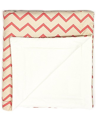 Nobodinoz Copenhagen Blanket 100x145 cm, Pink Zig Zag  - Organic cotton  Blankets