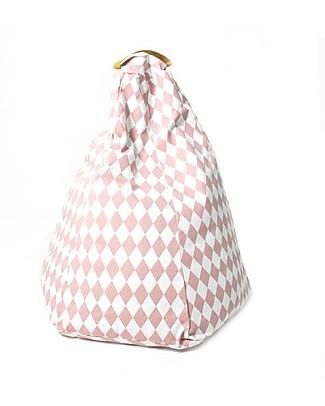 Nobodinoz Kids Bean-bag Marrakech, Pink Diamonds - Organic cotton Cribs & Moses Baskets