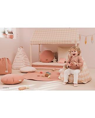 Nobodinoz Kids Bean-bag Marrakech, Pink Scales - Organic cotton Cribs & Moses Baskets