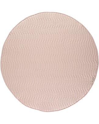 Nobodinoz Kiowa Quilted Round Carpet, Bloom Pink - Organic cotton Blankets
