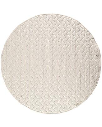 Nobodinoz Kiowa Quilted Round Carpet, Natural - Organic cotton Carpets