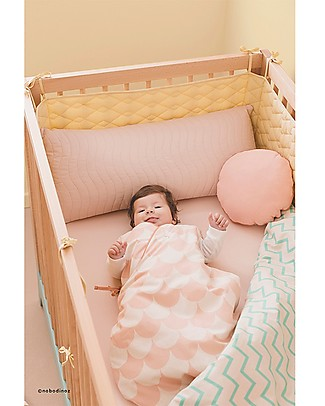 Nobodinoz Montreal Sleeping Bag 1,7 Tog, Pink Scales (3-6 months) - Organic cotton Warm Sleeping Bags