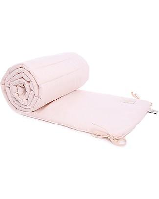 Nobodinoz Nest Cot Bumper HoneyComb, Dream Pink - Cotton Bumpers