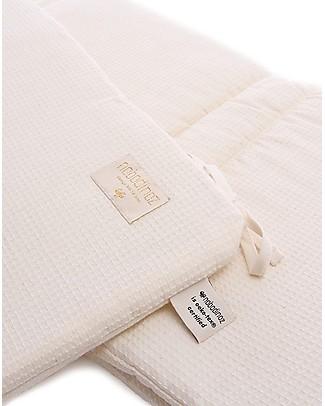 Nobodinoz Nest Cot Bumper HoneyComb, Natural - Cotton Bumpers
