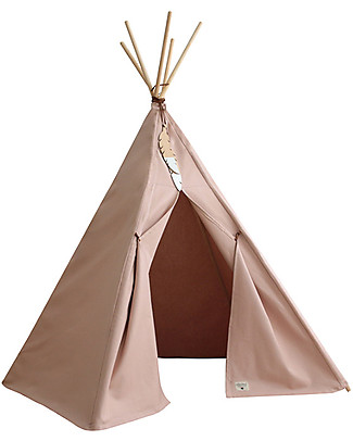 Nobodinoz Nevada Teepee, Bloom Pink - Organic cotton and wood Tepees & Tents
