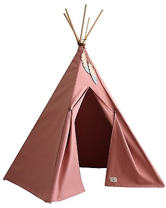 Nobodinoz Nevada Teepee, Dolce Vita Pink - Organic cotton and wood Tepees & Tents