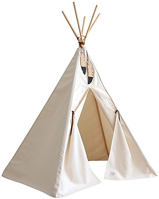 Nobodinoz Nevada Teepee, Natural - Organic cotton and wood Tepees & Tents