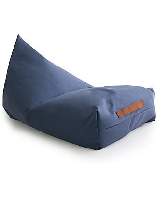 Nobodinoz Oasis Beanbag, Aegean Blu - Organic cotton Cushions