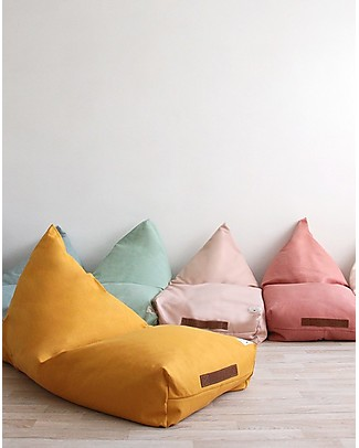 Nobodinoz Oasis Beanbag, Bloom Pink - Organic cotton Cushions