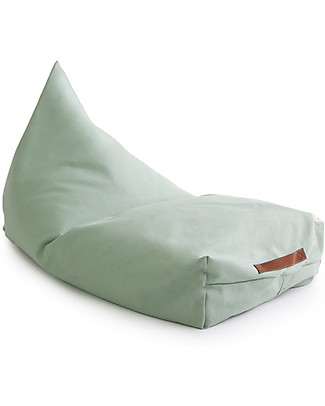 Nobodinoz Oasis Beanbag, Green Provence - Organic cotton Cushions