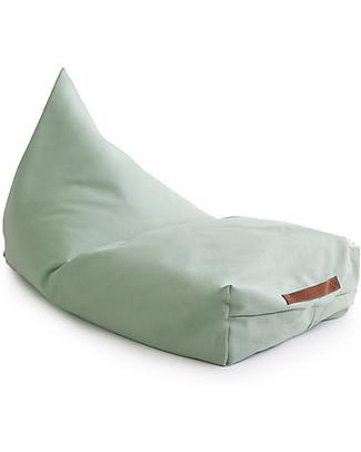 Nobodinoz Oasis Beanbag, Green Provence - Organic cotton Cushions