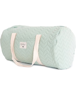 Nobodinoz Quilted Weekend Bag Los Angeles, Green Provence - Organic cotton Diaper Changing Bags & Accessories
