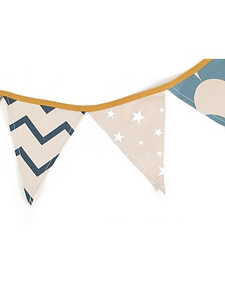Nobodinoz Rio Garland, Zig Zag - 221 cm - Organic cotton Room Decorations