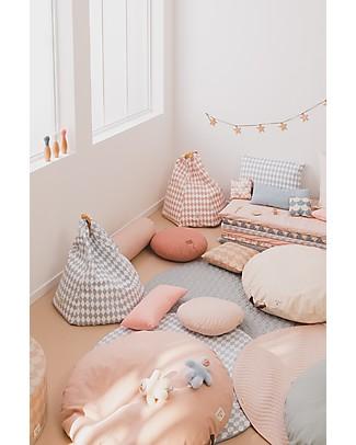 Nobodinoz Saint Tropez Mattress and Playmat, Blue Scales - Organic cotton Mattresses