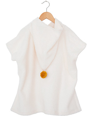Nobodinoz So Cute Bath Poncho, Natural - Organic cotton Towels And Flannels