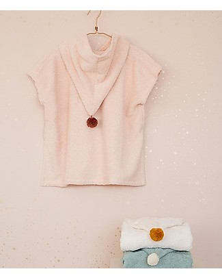 Nobodinoz So Cute Bath Poncho, Pink - Organic cotton Towels And Flannels