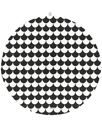 Nobodinoz Tappeto Rotondo Apache Small, Black Scales - Cotone bio Blankets