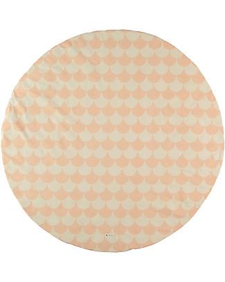 Nobodinoz Tappeto Rotondo Apache Small, Pink Scales - Organic cotton Blankets