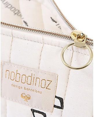 Nobodinoz Vanity Case, Black Secrets/Natural - Large 18x23 cm Makeup Bags & Pouches