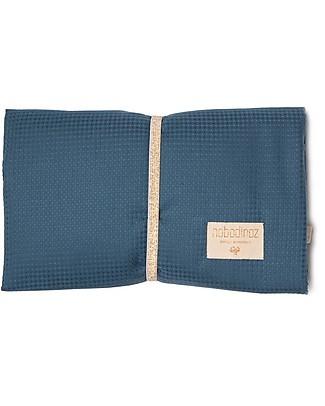 Nobodinoz Waterproof Changing Pad Mozart, Night Blue - Organic cotton Changing Tables