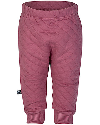 Noeser Bally Baggy Quilted Pants, Raspberry – Organic Cotton – 2/24 months Trousers