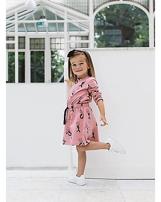 Noeser Else, Girls Dress Mermaid, Fairy Pink - Elasticated Organic Cotton Dresses
