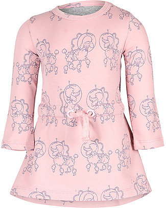 Noeser Else, Girls Dress Poodle, Dreamy Pink - Elasticated organic cotton Dresses
