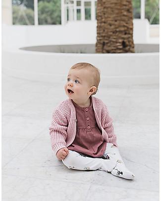 Noeser Gold Demi Cardigan, Fairy Pink – 100% Organic Cotton Sweatshirts