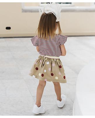 Noeser Jade, Skirt Dots, Lagune sand - 100% Organic Cotton Skirts