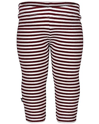 Noeser Levi Leggings, Totem Red/Stripes - Elasticated organic cotton Leggings