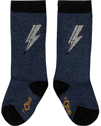 Noeser Long Spacy Socks Thunder, Sly Blue - Elasticated cotton Socks