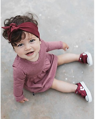 Noeser Olivia, Girls Dress Melee, Fairy Pink - Elasticated Organic Cotton Dresses