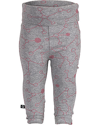 Noeser Pam Pants Molecule, Grey Melange - Elasticated organic cotton Trousers