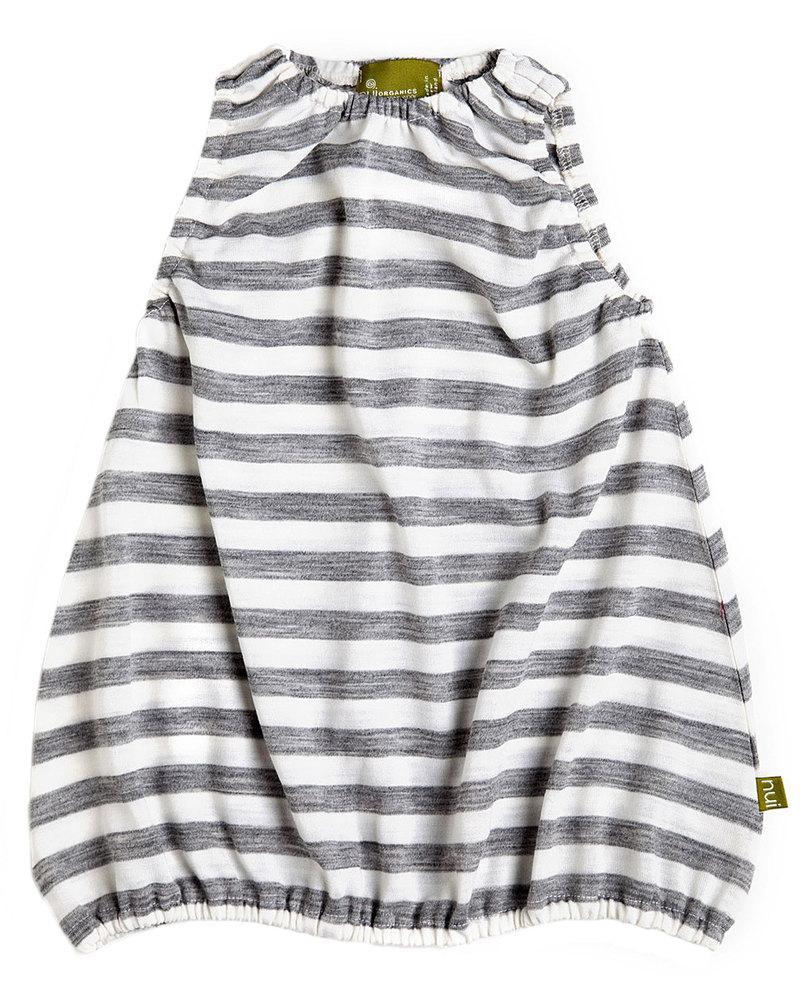 3f72ce17bc Nui Organics Bubble Dress - Silver Grey & White Striped Organic Merino Wool  Dresses