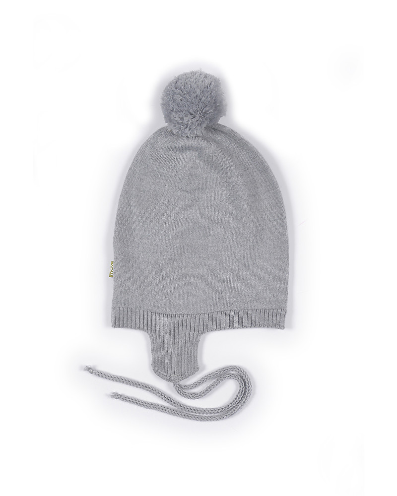 Nui Organics Gail Hat with Pompom - Silver - Organic Merino Wool (non-itchy da0184734f5a