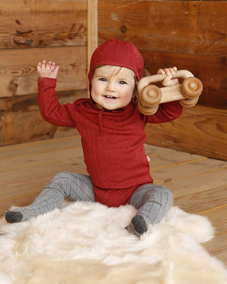 Nui Organics Merino Baby Tights - Silver Grey - organic Merino wool Tights