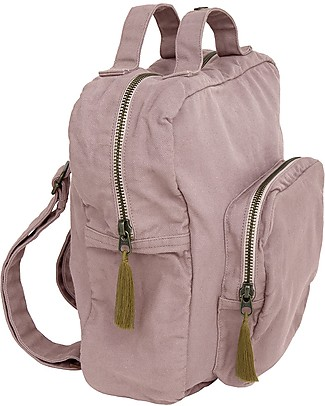 Numero 74 2-in1 Backpack and Bag, Dusty Pink - 100% Organic cotton Small Backpacks