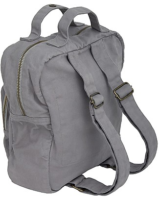 Numero 74 2-in1 Backpack and Bag, Stone Grey - 100% Organic cotton Small Backpacks