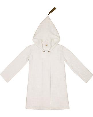 Numero 74 Accappatoio Bimbo Joy, Natural (6-8 anni) - 100% cotone bio nido d'ape Towels And Flannels