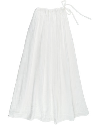 Numero 74 Ava Long Skirt - White - Double Cotton Muslin Skirts