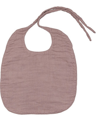 Numero 74 Baby Bib Round Dusty Pink - Double Cotton Muslin Snap Bibs