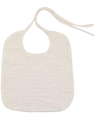 Numero 74 Baby Bib Round White - Double Cotton Muslin Snap Bibs