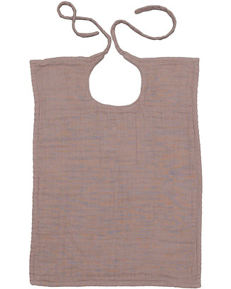 Numero 74 Baby Bib Square - Dusty Pink - Double Cotton Muslin Snap Bibs