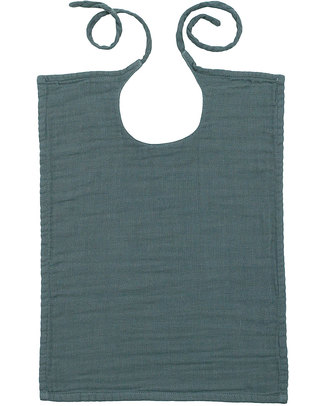 Numero 74 Baby Bib Square Ice Blue - Double Cotton Muslin Snap Bibs