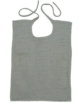 Numero 74 Baby Bib Square Silver Grey - Double Cotton Muslin Snap Bibs